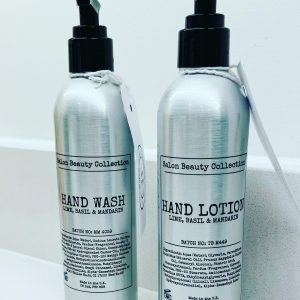 Hand Wash and/or Hand Lotion 250ml Aluminium  bottle
